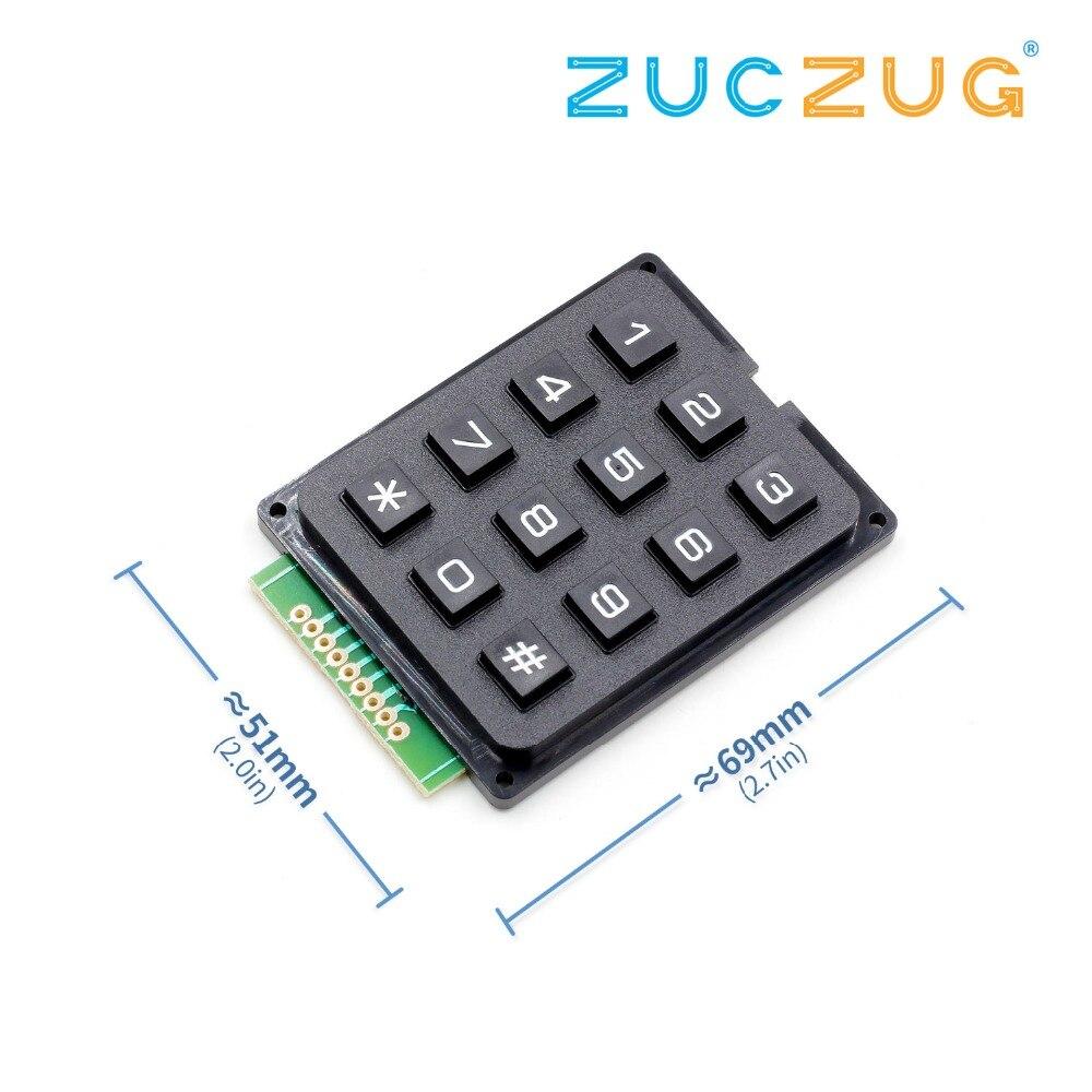 12 touches clavier à Membrane commutateur 4x3 matrice matrice matrice clavier Module Membrane commutateur clavier pour Arduino