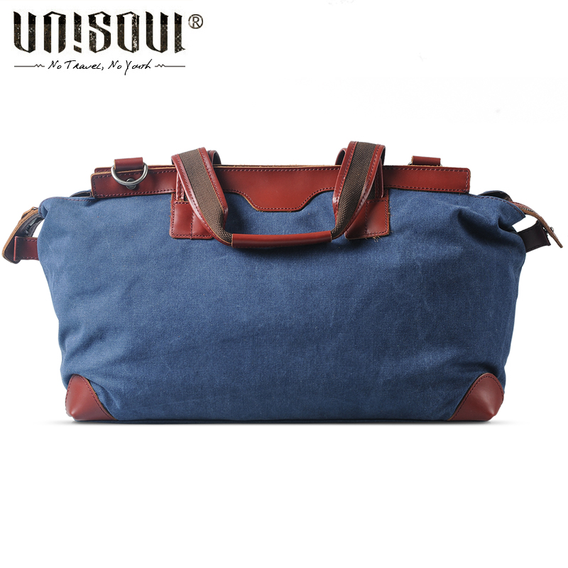 ФОТО UNISOUL Travel Totes European and American Style Canvas Crossbody bag of Men Fashion bags High capacity male Casual Bag