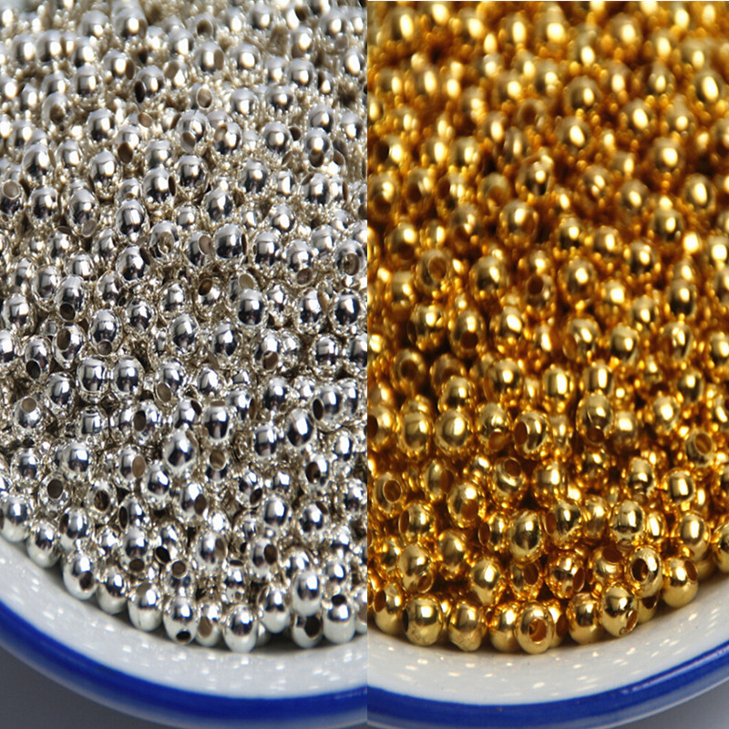 Pick 3 4 5 6 8 10 12 14mm Gold/silver Jewelry Imitation Pearls Spacer Ball Beads For Jewelry Making DIY Necklace Bracelet
