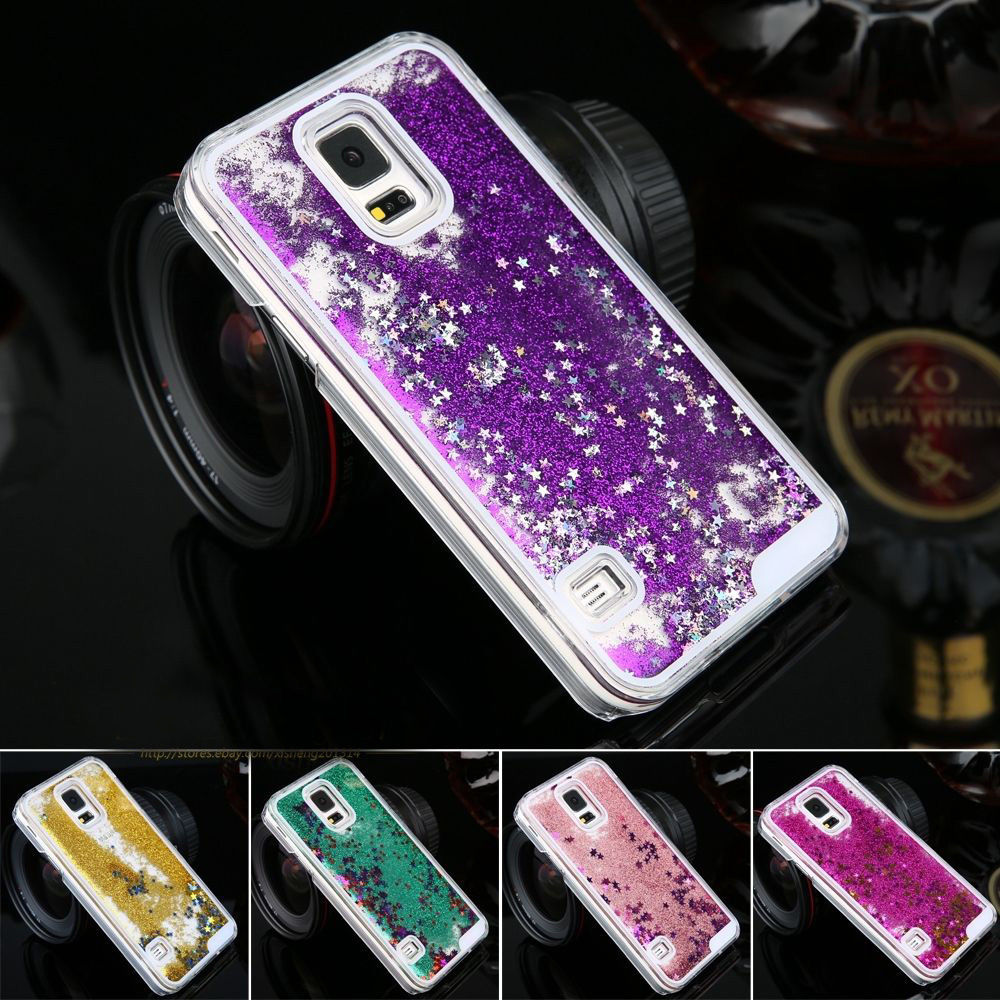 LANCASE For Samsung Galaxy S7 Edge Case Glitter Star Quicksand Liquid Case For Samsung Note 5 Note 4 Note 3 S6 Edge S7 Hard Case