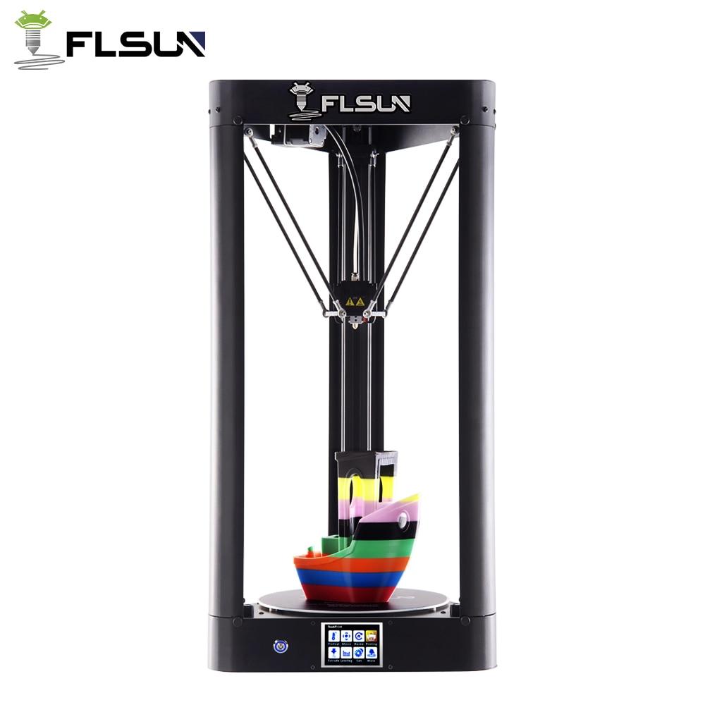 2019 mise à jour haute vitesse FLSUN QQ-S grande imprimante 3D cadre en métal Auto-nivellement imprimante 3d écran tactile treillis verre lit WIFI