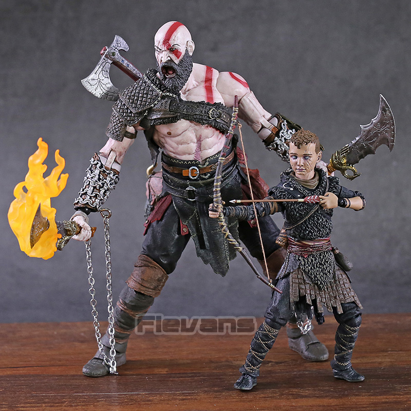 NECA God Of War 2018 Kratos & Atreus Ultimate PVC Action Figure Collectible Model Toy 2-pack