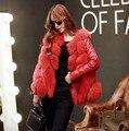 2016 la Más Nueva Manera de La Alta Calidad Elegante mujer Faux Fur Coat Mujer Hierba Chaqueta de Invierno de Piel Falsa Chaleco Grande tamaño S-4XL