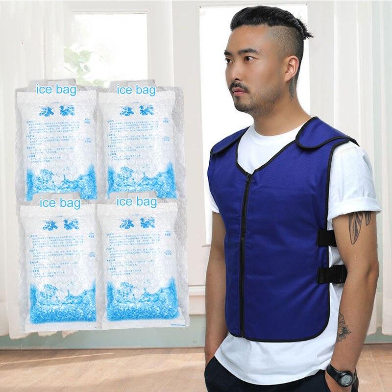 夏のボディ冷却アイスバッグエアコン衣料屋外釣りキッチン工場業界抗高温  グループ上の セキュリティ & プロテクション からの 安全服 の中 1