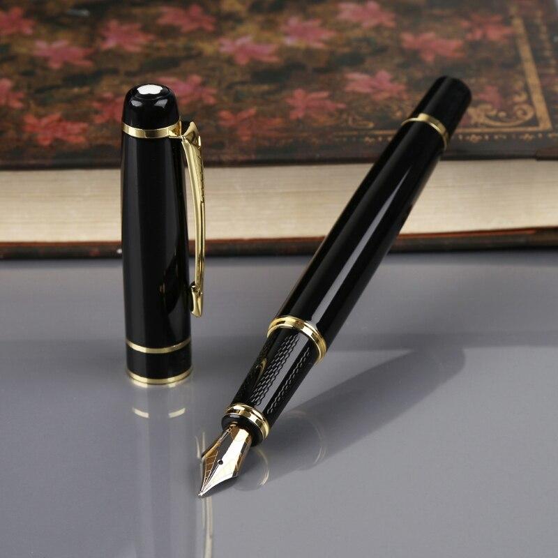 6aeeb9105967 Hero 1501 Black With Golden Trim Standard F Nib Fountain Pen Gift  dropshipping