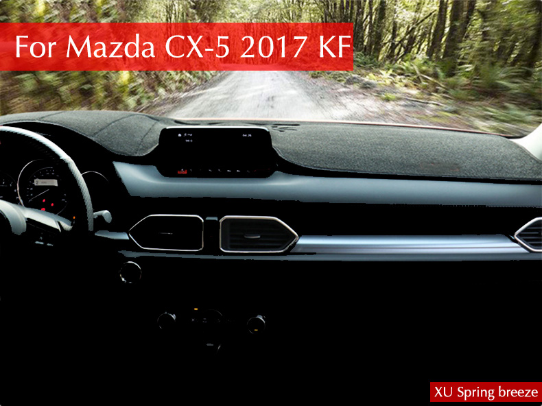 Car Dashboard Protective Mat Shade Cushion Photo Polyester Pad Interior Carpet For Mazda CX-5 CX5 2017 2018 KF LHD Car styling for mazda cx 5 cx5 2017 2018 2nd gen lhd auto at gear panel stainless steel decoration car covers car stickers car styling