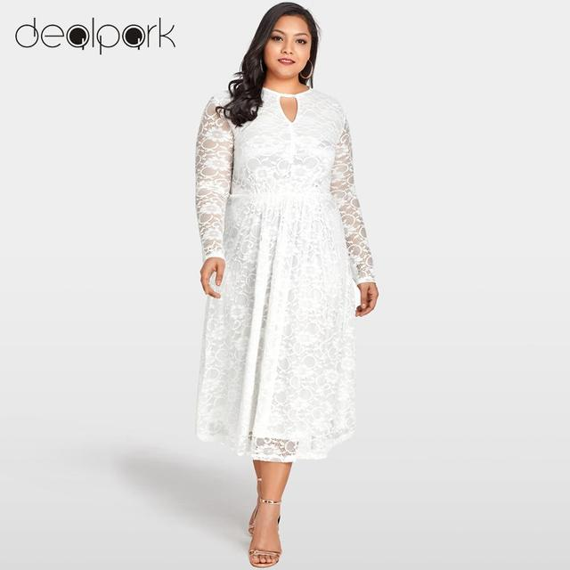 eafc827216e41 Women Plus Size Lace Dress 3XL 4XL 5XL Oversized Elastic High Waist Elegant  Evening Club Wear