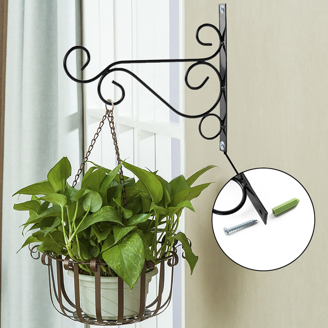 Beautiful Metal Iron Wall Hanging Basket Hooks Plant Pot Hook Brackets Garden Hanging  Plant Hooks Hangers Lantern