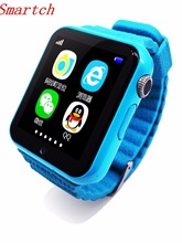 Smartch GPS Saft Tracker Smart Watch V7k For iOS Android Kids Location Children Baby Support SIM TF Card Safe Anti-lost Monitor