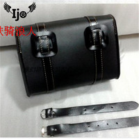 Ijo Black Synthetic PU Leather Left Side Motorcycle Saddle Bags For Harley Sportster XL 883 XL 1200 Motor Saddlebag D25