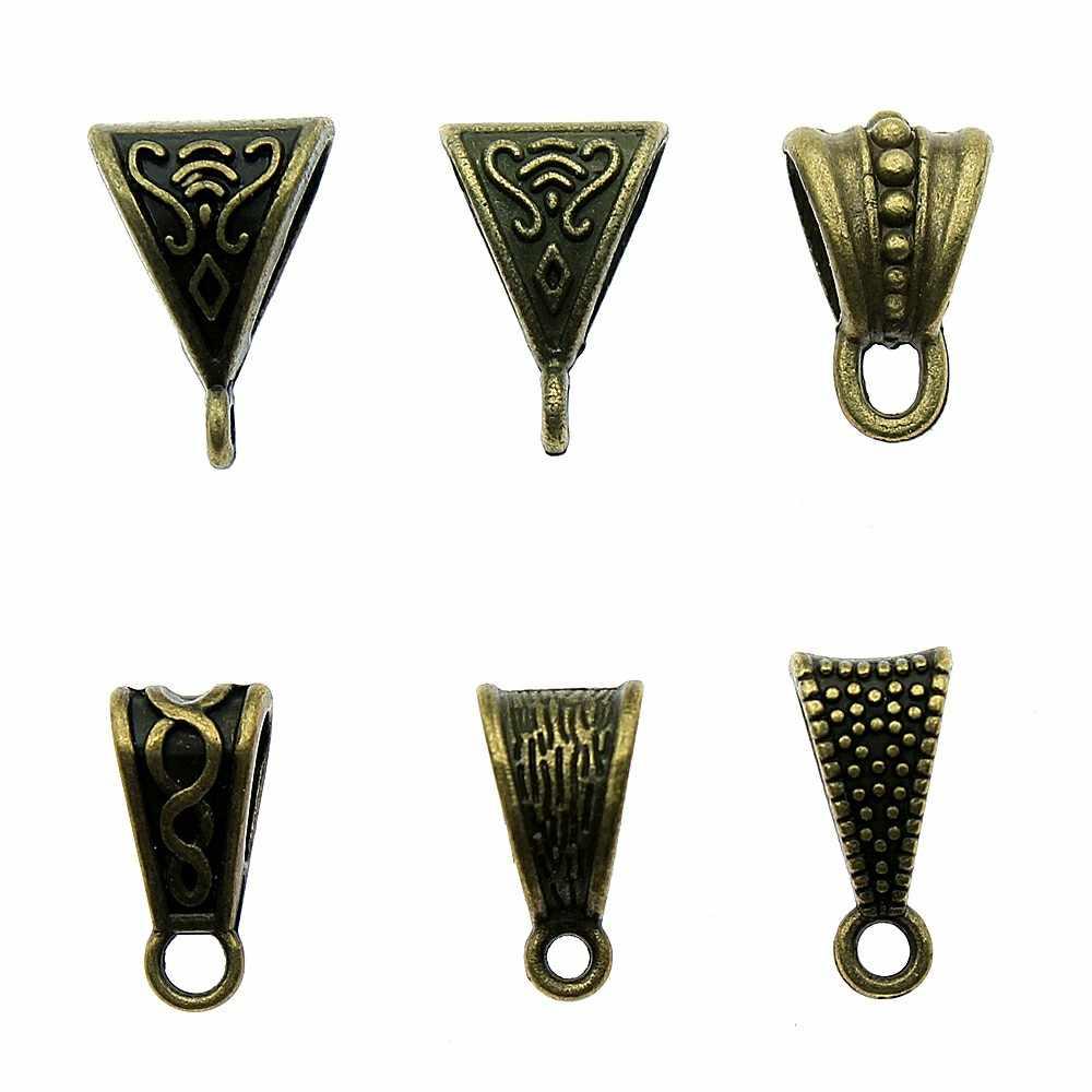 20 штук разъем бусины с ушком Шарм в античном стиле бронза бусины с ушком Шарм Подвески соединители бусины с ушком браслеты с подвесками