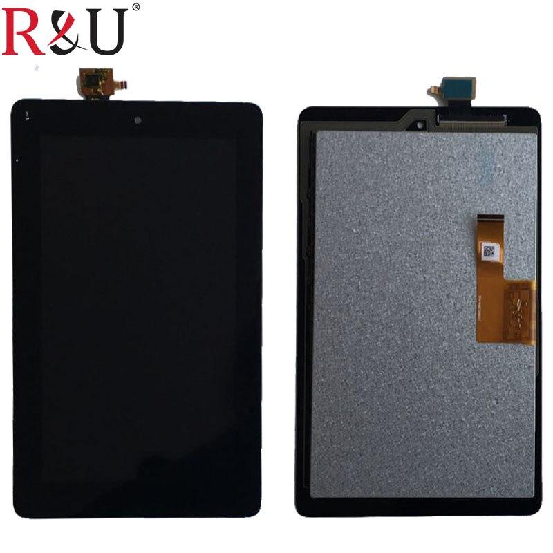 R & U высокого качества 7 ЖК-дисплей Дисплей + Сенсорный экран панели планшета Ассамблеи Замена для Amazon Kindle Fire 2015 HD5 HD 5 sv98l
