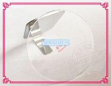 Shippng libre 1 pc Mingjing Plat 1.0mm Épais Ronde Réel Saphir Cristal Taille de 14mm à 22.5mm