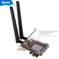 PCI E PCI Express 1X Adapter Desktop Converter With 2 6dBi Antenna For Intel 8260NGW 7260NGW
