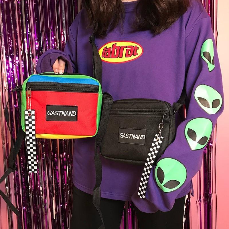 Plaid-Bags Messenger-Bags Patchwork Zipper Female Summer Women Fashion for Simple Hot