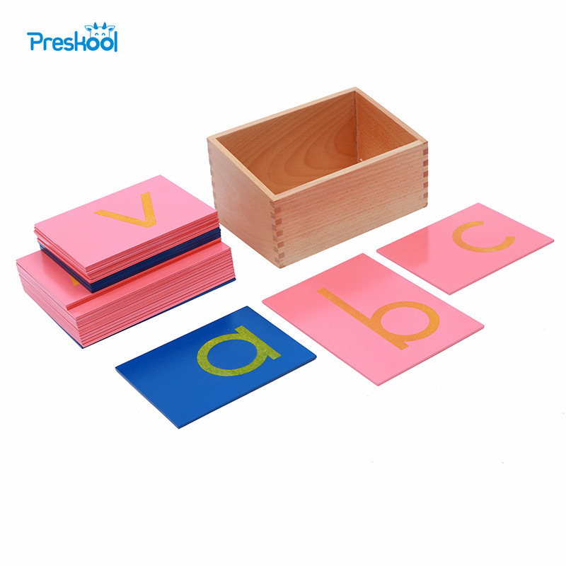 Baby Toy Montessori Language Lower Case Sandpaper Letters Print Tracing Board Early Preschool Brinquedos Juguetes