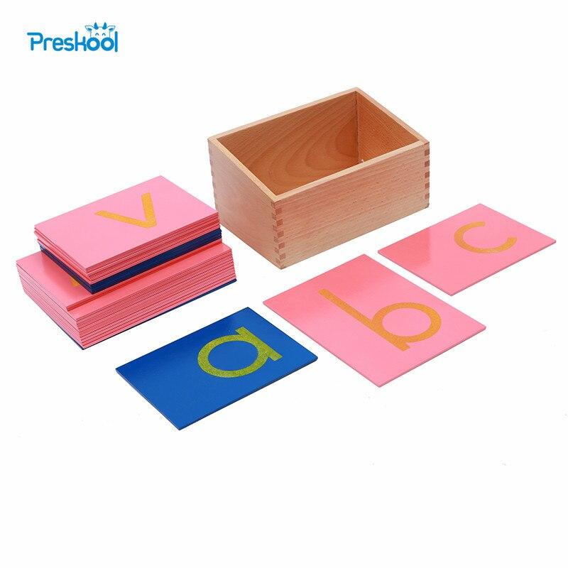 Juguete de bebé Montessori Idioma inferior caja de papel de lija letras de impresión tablero de seguimiento temprano preescolar Brinquedos Juguetes