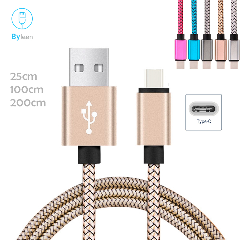 Byleen Fast Charging Data Sync Charger Premium USB Type C Line For Samsung Galaxy S9 A9 + NOTE 9 8 Bluboo S8 Plus S1 Maya Max