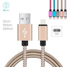 Caricabatterie per sincronizzazione dati bymil, ricarica rapida, linea Premium USB tipo c per Samsung Galaxy S9 A9 NOTE 9 8 Bluboo S8 Plus S1 Maya Max