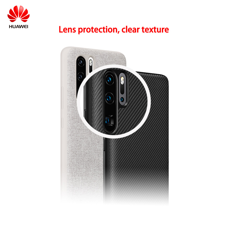 Huawei 100 New Original Official Leather Phone Protective Case Pu Back Cover Joint design with Leica for P30 P30 Pro in Half wrapped Cases from Cellphones Telecommunications