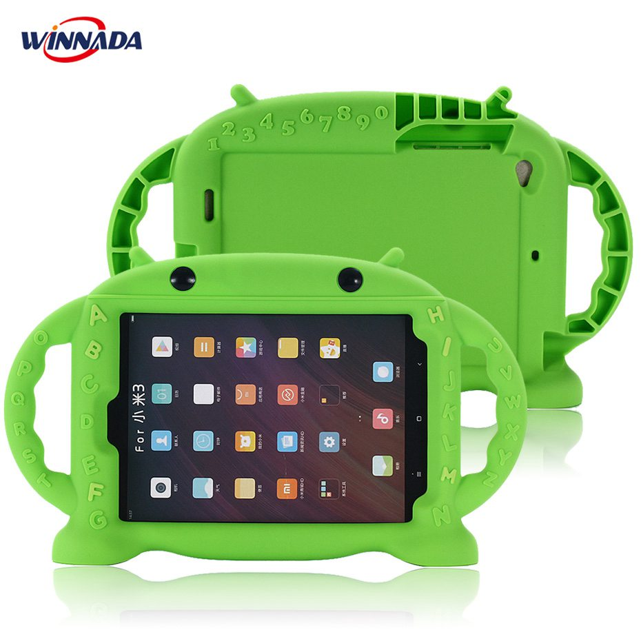 все цены на Case for xiaomi mi pad 3 full body protective Food-grade silicone tablet PC Cover for xiaomi mipad 3 for kids for xiaomi-mipad-3 онлайн