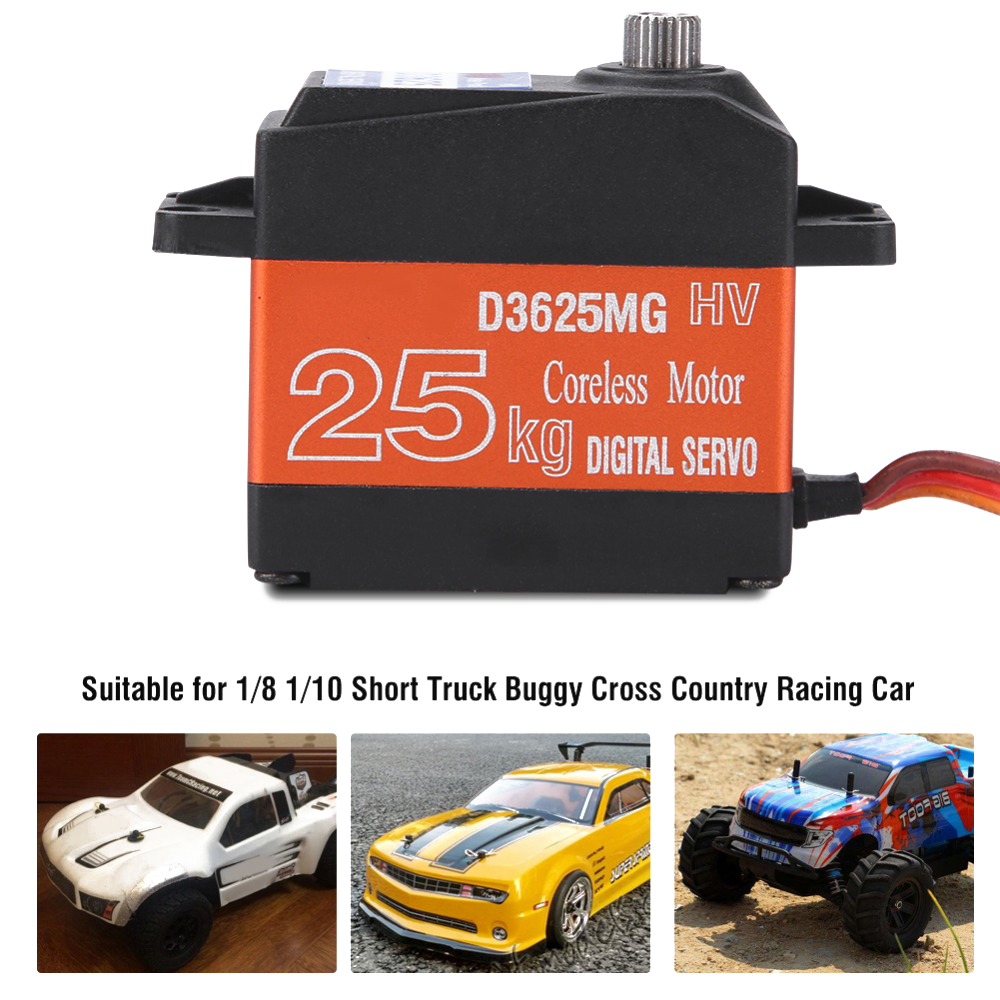 D3625MG 25KG High Torque Waterproof Digital Servo with Metal Gear 180 Degree for RC Model Car Speed Boats PartsD3625MG 25KG High Torque Waterproof Digital Servo with Metal Gear 180 Degree for RC Model Car Speed Boats Parts