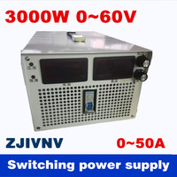 3000W 0 60v 0 50A Output current&voltage both adjustable Switching power supply AC DC For industry, led light, Laboratory power