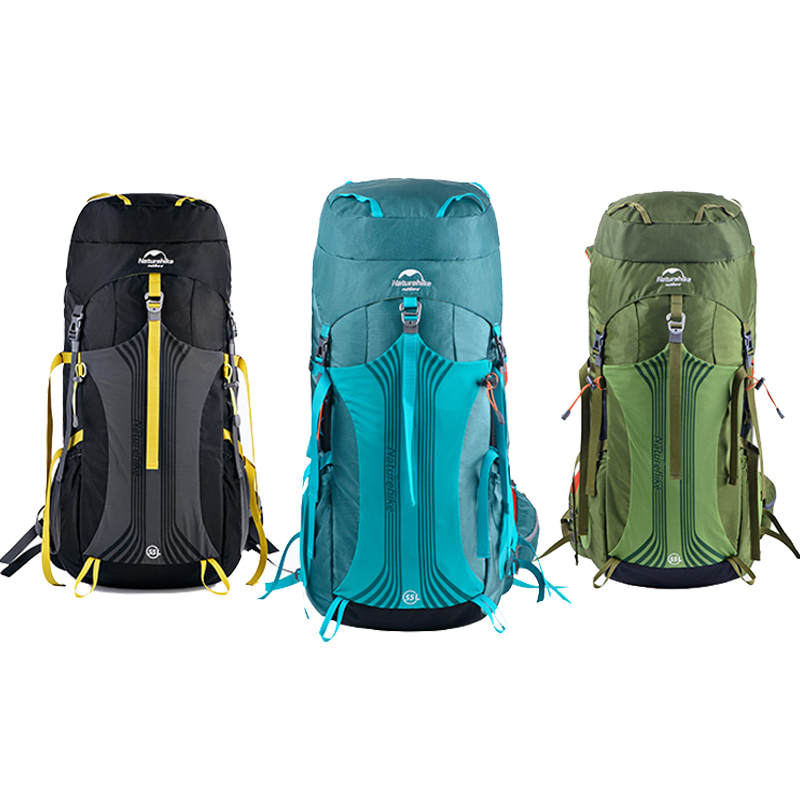 Naturehike Professional Climbing Bag 55L / 65L Travel Camping Hiking Trekking Backpack With Suspension System