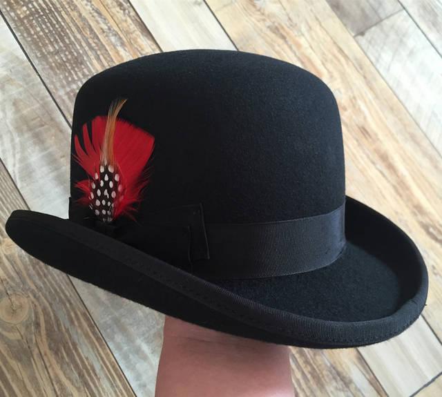 ae618c1809b Online Shop Derby Hat  Men s Wool Vintage Traditional Bowler Felt Hat    Cabaret Chaplin Sherlock Watson Hat