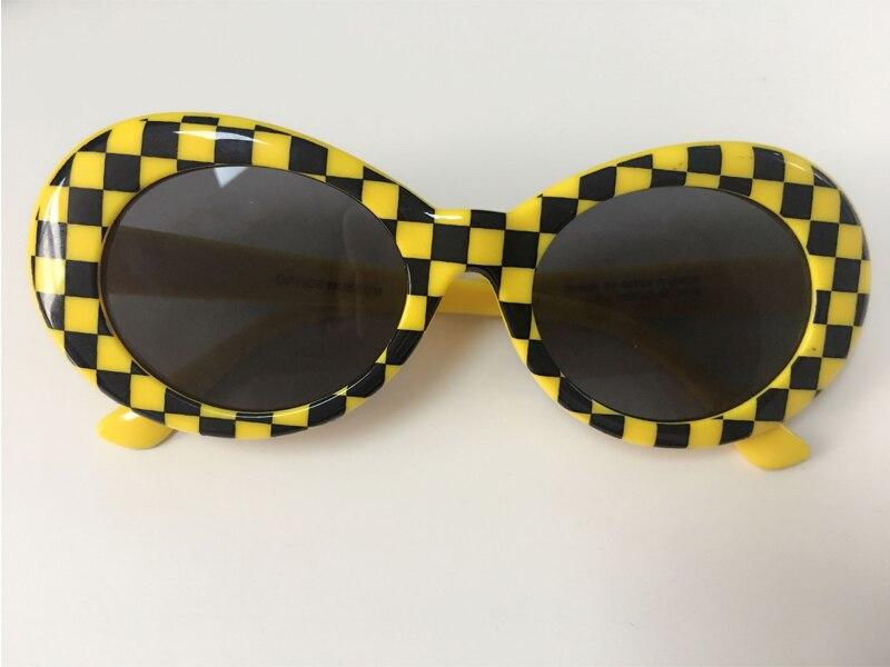 Long Keeper Hot Sale NIRVANA Kurt Cobain Sunglasses For Men Women Fashion Plaid Oval Sun Glasses Unisex Eyewears Gafas WXR04 in Men 39 s Sunglasses from Apparel Accessories