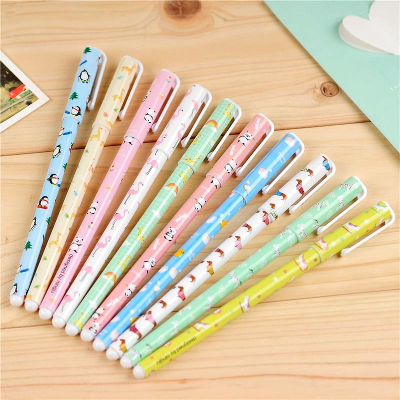 100 pcs Lot Cute animal Gel pen Chinese feature ballpoint pen Kawaii Zakka Caneta papelaria material