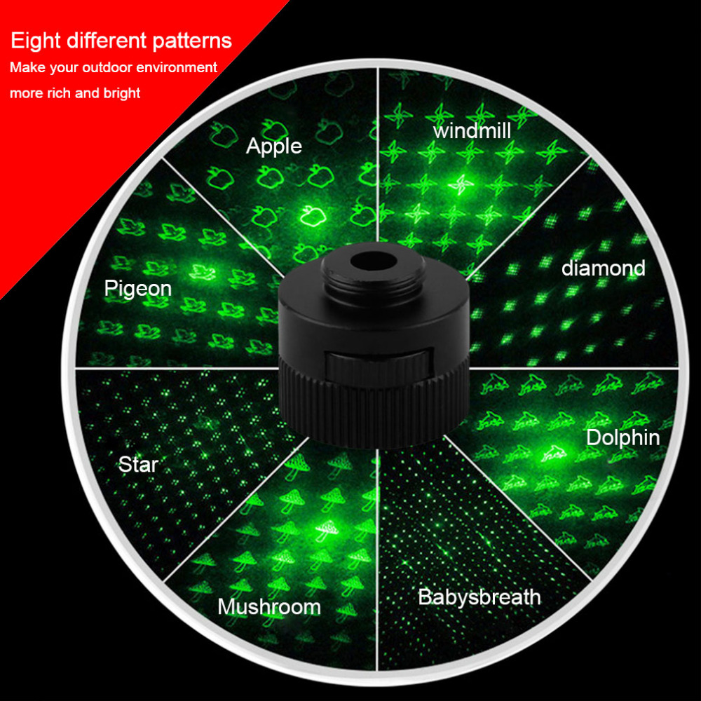 New 8 Patterns LED Stage Light Accessories Landscape Projector Laser Dance Lamp For Part ...