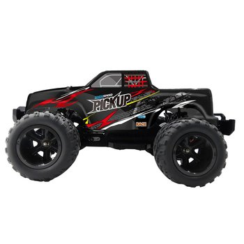 Flytec 8897 1:12 RC Car Off-Road Pickup 35km/h 4WD 2.4G Remote Control with 2 Battery Vehicle RTR Buggy Electronic Toy for Kids