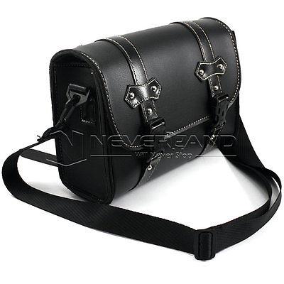 Motorcycle Saddle Bags Leather Black Side Tool Bag Luggage mochila moto for Harley Universal Freeshipping D20