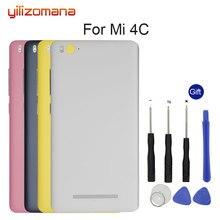 YILIZOMANA Original Replacement Battery Back Cover For Xiaomi Mi 4C Mi4C M4C Phone Rear Door Housings Hard Case Free Tools