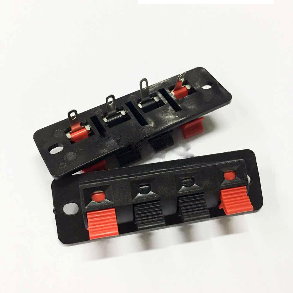 buy wholesale 300pcs 4pin push red and black spring push type speaker cable. Black Bedroom Furniture Sets. Home Design Ideas