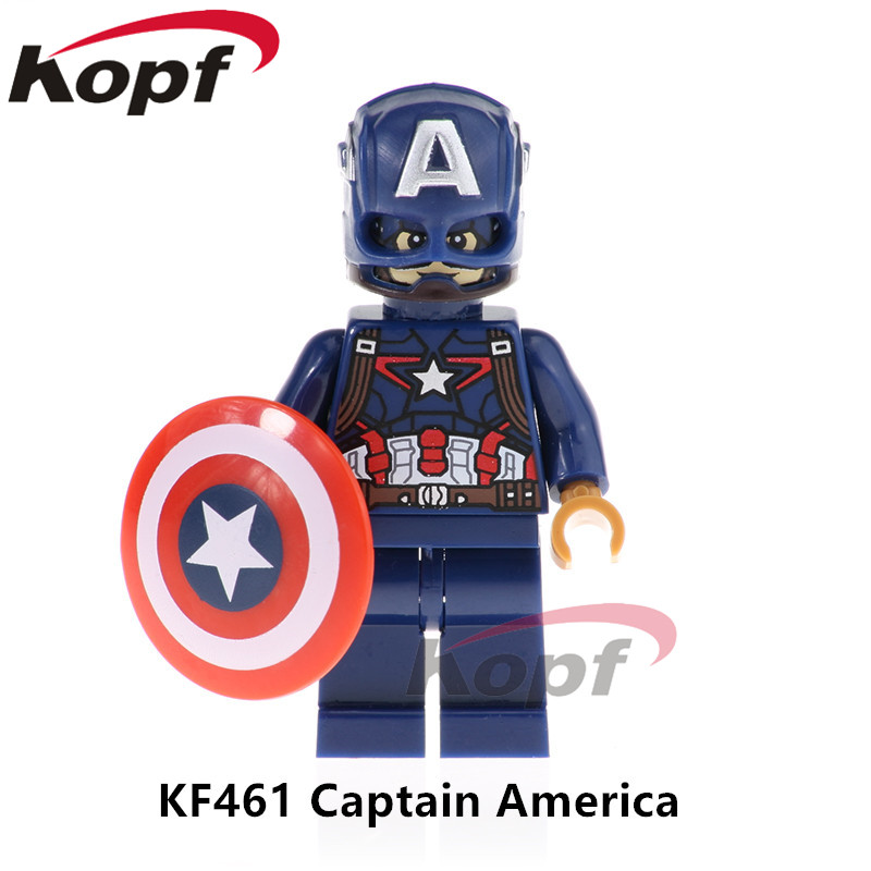 Single Sale Super Heroes Infinity War Figures Deadpool 2 Captain America Spiderman Thanos Building Blocks Children Toys KF461 single sale decool 0250 0255 captain america figure civil war building blocks marvel hero models toys