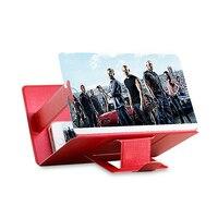 3D 전화 화면 돋보기 입체 증폭 데스크탑 접이식 가죽 브래킷 휴대 전화 홀더 태블릿 홀더 dropshippin|확대 렌즈|도구 -