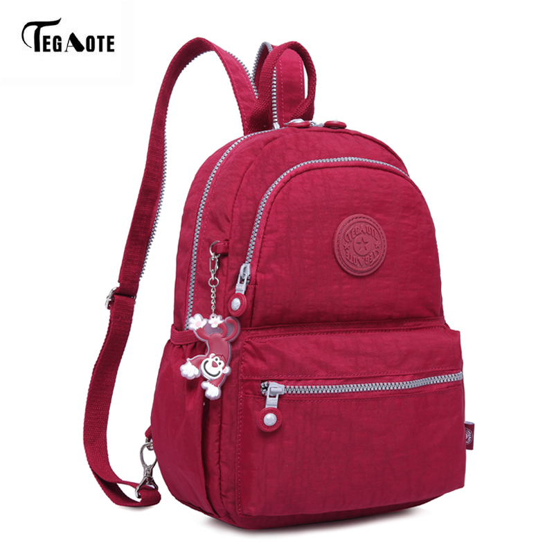 TEGAOTE Fashion Women Backpacks for Teenage Girls Mochila Feminine Bagpack with Back Anti-theft Zipper Pocket Casual Nylon Bags