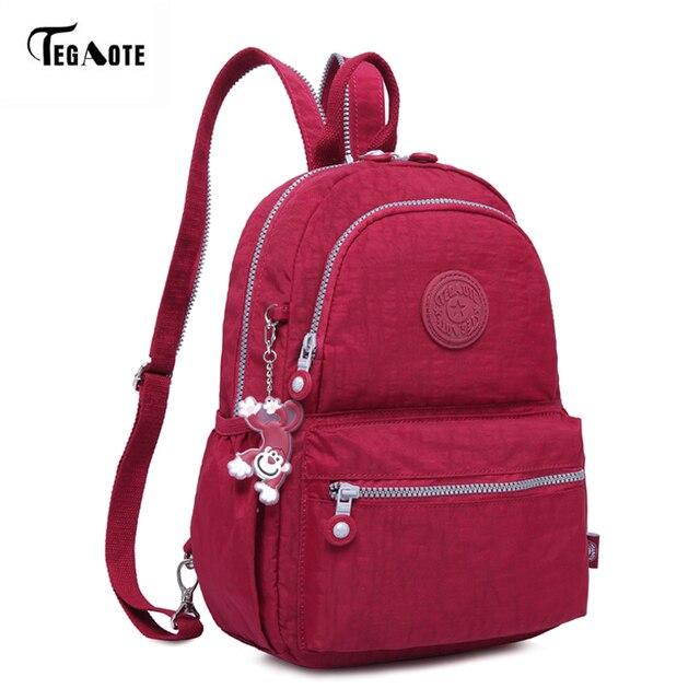 TEGAOTE Fashion Women Backpacks for Teenage Girls Mochila Feminine Bagpack  with Back Anti-theft Zipper 1bb830b6bdbe1