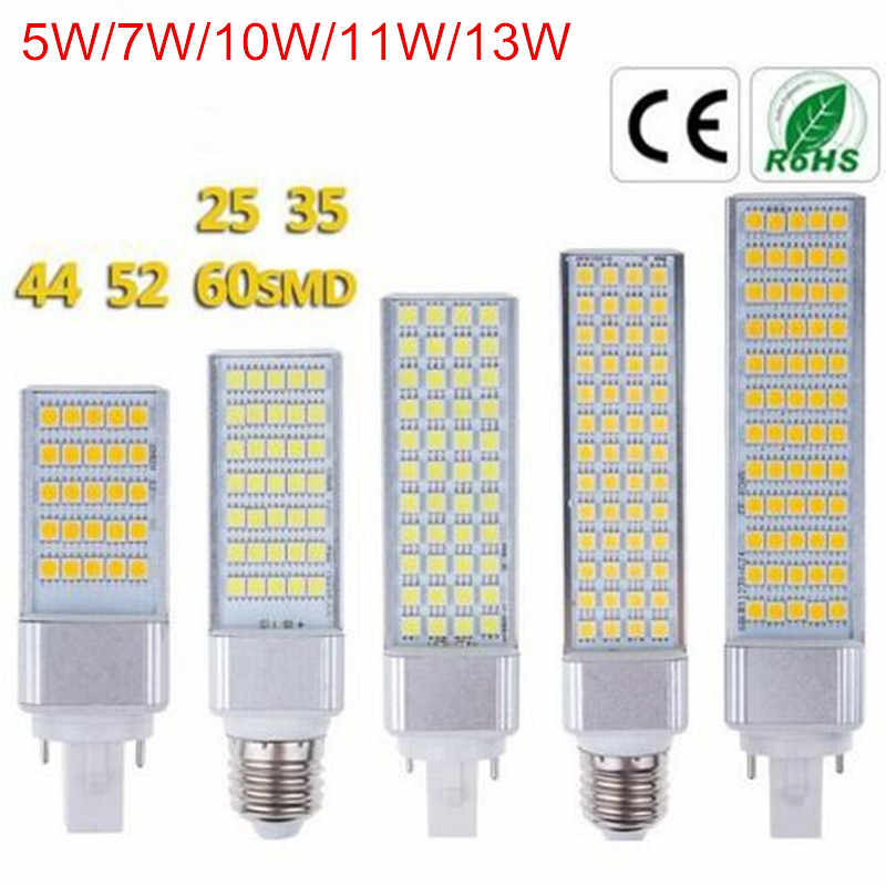 5W 7W 10W 11W 13W G24 LED Bulb Light E27 Bulb LED Lighting Lamp SMD5050 AC85-265V LED Bombillas for Replace Fluorescent Light