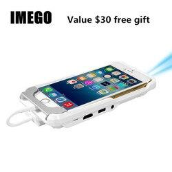 Мини ТВ микро DLP Wifi портативный карманный LED смартфон проектор Pico HD видео 1080P HDMI для iPad iPhone 6 7 8 X Plus белый IOS