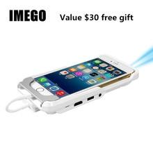 Mini TV Micro DLP Wifi Portable de Poche LED Smartphone Projecteur Bluetooth Pico HD Vidéo 1080 P HDMI Pour Ipad IPhone 6/7 Blanc IOS