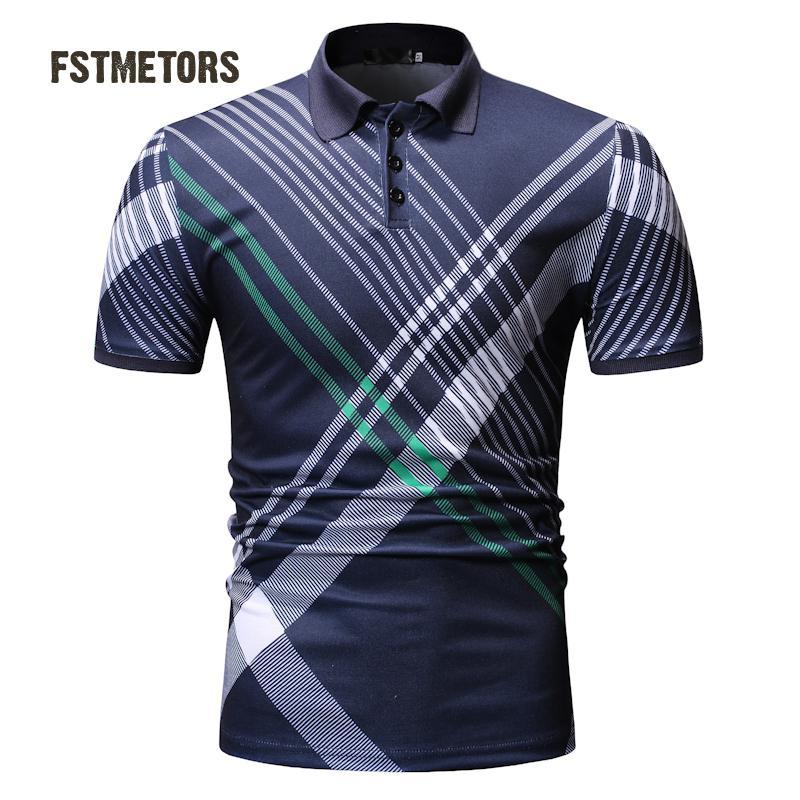 2019 summer men's   polo   shirt fashion casual contrast color polyester men's lapel sports short-sleeved   polo   shirt