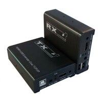 Высокое качество 120 м HDMI KVM Extender tcp/ip Сетевой удлинитель USB HDMI ИК по cat5e/6 (1 TX + 1 rx)