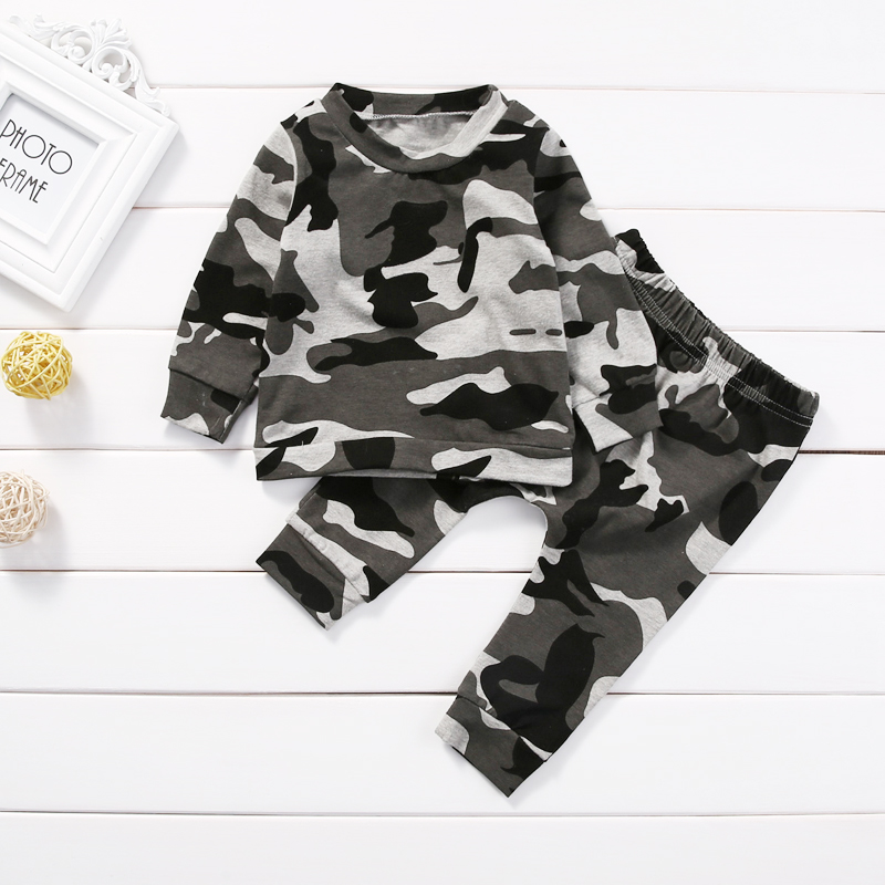 2pcs Infant Newborn Toddler Baby Boy Girl Clothes T-shirt Tops+Pants Outfits Set