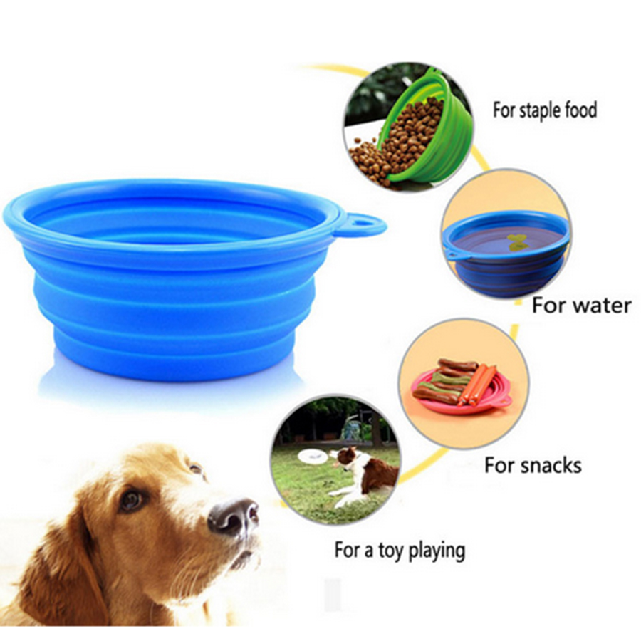 Garage Silicone Collapsible Feeding Bowl Dog Water Dish Puppy Pet Cat Travel Bowlsfable Portable Dog Food Dog Feeding From Home Garden On Silicone Collapsible Feeding Bowl Dog Water Dish Puppy Pet Cat bark post Dog Water Bowl