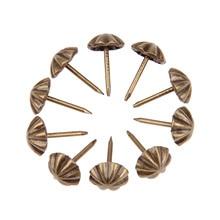 DRELD 100 шт 11*17 мм антикварные бронзовые мебельные гвозди железные металлические ювелирные изделия Подарочная коробка для декоративной обивки Лаки гвоздики для мебели