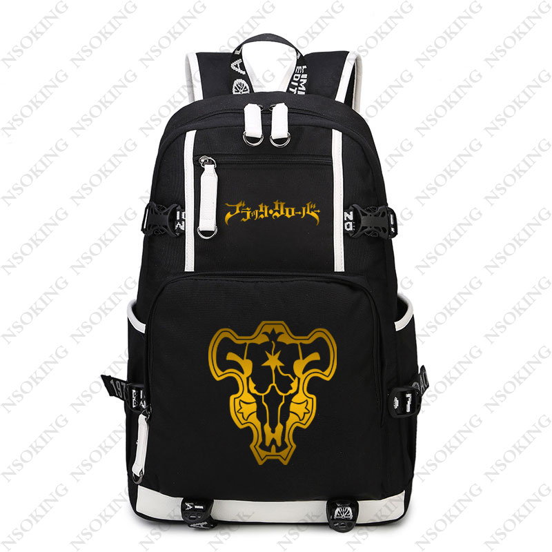 420c10051637 US $34.44 18% OFF New Black Clover Backpack Asta cosplay Nylon School Bag  School Student Teenagers Travel Bags-in Backpacks from Luggage & Bags on ...