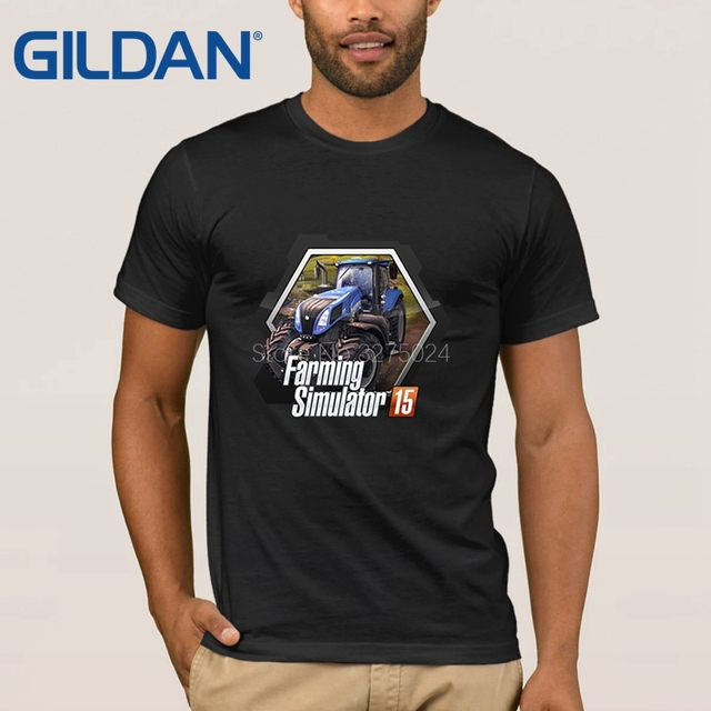 ed01c4bf Gildan Printing Normal T-Shirt Men Farming Simulator Game Mens T Shirt  Humor Sunlight Tee